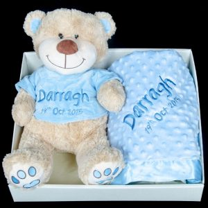 Teddy and Blanket Gift Hamper Blue
