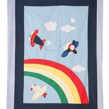 Airplane Cot Quilt
