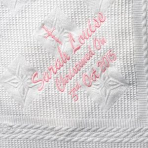 White Christening Shawl