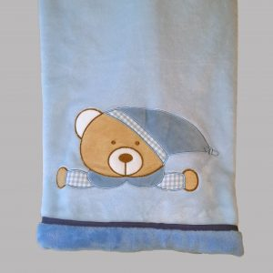 Blue Teddy pram