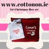 Red Blanket and Babygrow personalised embroidered baby gift blanket new born babygift delivered name cotton on Red Personalised gifts Ireland Christmas Baby's 1st Christmas Baby's first Christmas