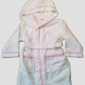 Childrens White Toweling Bathrobe