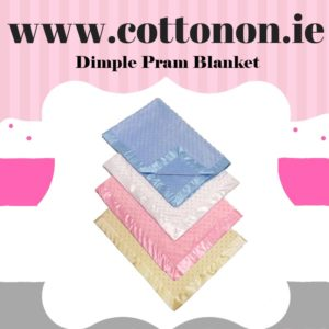 Dimple Pram Blanket personalised embroidered baby gift blanket new born babygift delivered name date of birth cotton on Pink Blue Cream White Lemon