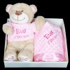 personalised embroidered baby gift blanket teddy new born babygift delivered boxset name date of birth cotton on