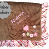 cotton on Baby Blanket personalised gift birthday new baby girl pink brown frill Butterfly