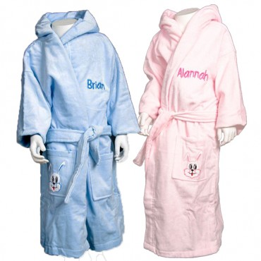 Childrens Bunny Velour Robe
