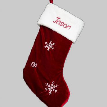 Snowflake Christmas Stocking