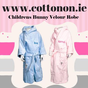 Childrens Bunny Velour Robe