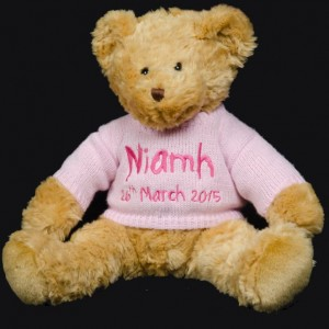 Teddy with Pink Knitted Jumper