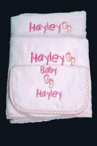 Pink Gingham Towel Set