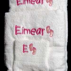 White Baby towel set