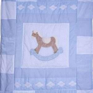 Hobby Horse Quilt Blue