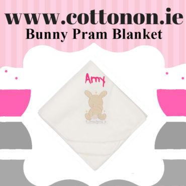 Bunny Pram Blanket