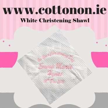 White Christening Shawl