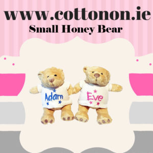 Personalised Honey bear personalised by Cotton On Gift for birthday. personlaised baby gift Cotton On Gifts.