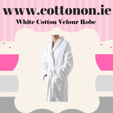 White Velour Bathrobe