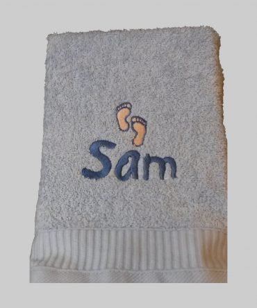 Blue Baby Hand Towel