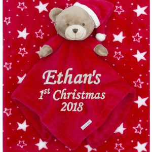 Cotton On Personalised Baby Gift Babygift Baby blanket Teddy boxset first Christmas 1st Christmas name