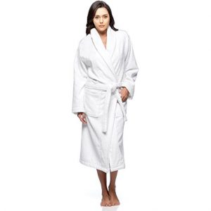 White Towelling Bathrobe One Size Adult robe, 100% Cotton Personalised embroidered valentines birthday anniversary, Cotton On Ireland