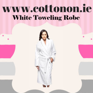 White Towelling Bathrobe unisex, 100% Cotton Personalised embroidered birthday anniversary, Cotton On Gifts 2nd wedding anniversary gift