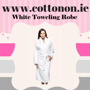 White Towelling Bathrobe