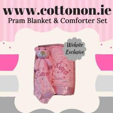 Pram Blanket and Comforter Set