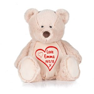 Personalised valentine bear valentine zippy bear Plaque, true love , free gift ,gift basket ,valentines ,love cotton on love is in the air