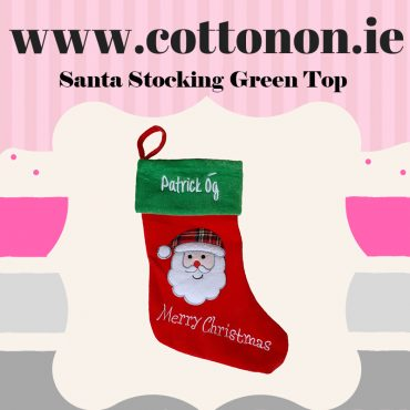 Santa Stocking Green Top