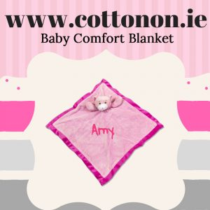 personalised gifts ireland Baby Comfort Blanket Comforter personalised embroidered baby gift blanket teddy new born babygift delivered name date of birth cotton on comforter