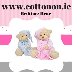 Personalised Bedtime Bear and Comforter Set personalised embroidered baby gift blanket teddy new born babygift delivered boxset name date of birth cotton on comforter