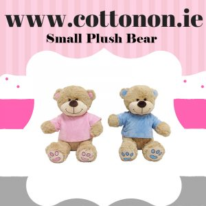 Personalised small Plush Bear personalised embroidered baby gift blanket teddy new born babygift delivered boxset name date of birth cotton on
