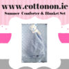 personalised gifts ireland Summer Comforter and Blanket Box Set personalised embroidered baby gift blanket teddy new born babygift delivered boxset name date of birth cotton on Pink Blue