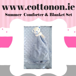 Summer Comforter and Blanket Box Set personalised embroidered baby gift blanket teddy new born babygift delivered boxset name date of birth cotton on Pink Blue