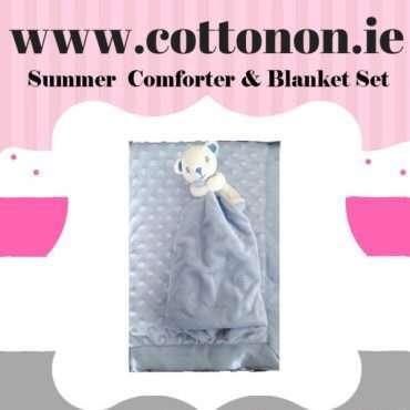 Summer Comforter and Blanket Set