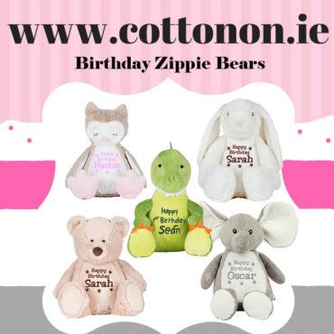 Birthday Zippie Bears