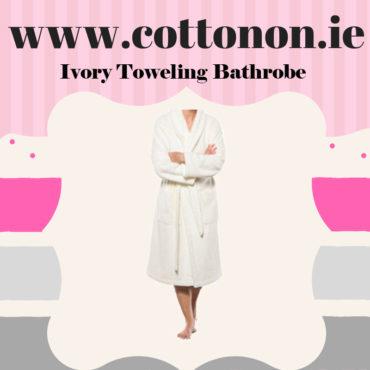 Ivory Towelling Bathrobe