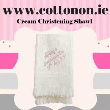 Cream Christening Shawl