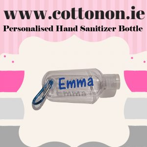 personalised sanitiser bottle ireland with clip 50ml back to school sport bag accessory personalised with name Hand sanatizer