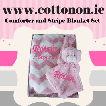 Comforter and Stripe Blanket Set