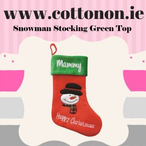 Red Personalised Christmas Stocking embroidery Personalised Santa Stocking Xmas Stocking Red 3D Snowman Cotton On Personalised Christmas gifts Ireland