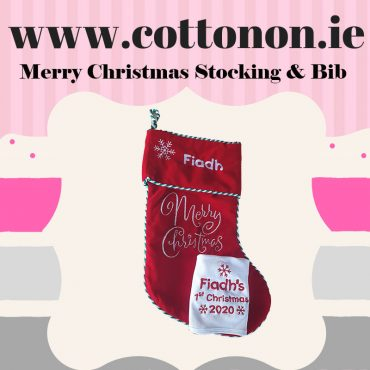 Merry Christmas Stocking & Bib