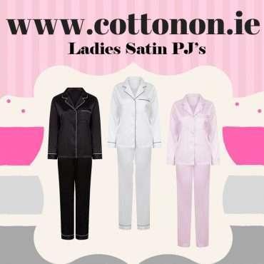 Ladies Satin Pyjamas