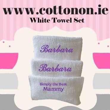 White Towel Set