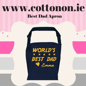 personalised Best Dad embroidered Adult Apron Fathers Day gifts delivered cotton on Personalised gifts Ireland